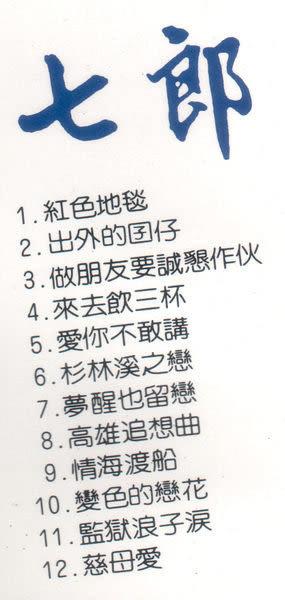 七郎 出外的囝仔 CD 台語專輯 5 免運 (購潮8)