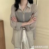 超仙薄款防曬衫女2020夏新款韓版寬鬆設計感雪紡上衣小眾長袖襯衫 完美居家生活館