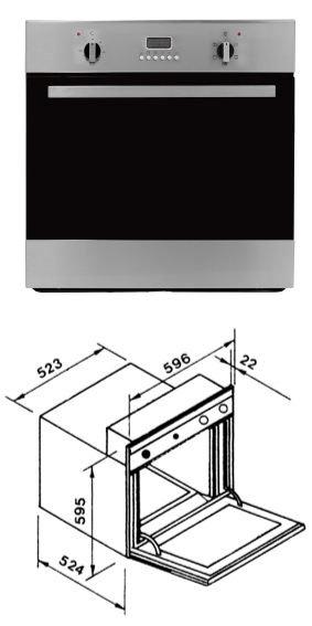 義大利BEST貝斯特 OV-367 嵌入式3D旋風烤箱 (60cm)寬.高 熱線07-7428010