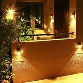 太陽能壁燈戶外庭院燈人體感應壁燈陽臺家用防水超亮光控室外壁燈 英雄聯盟