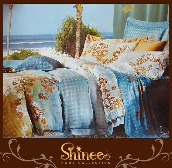 SHINEE《 夏戀繽紛 》雙人正天絲四件式兩用被床包組