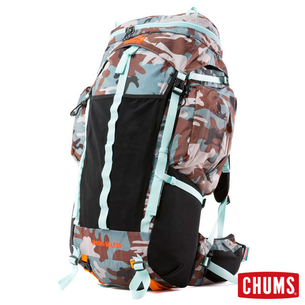 CHUMS 日本 Spring DaleⅡ 系列 露營登山背包 50L (附雨罩) 迷彩 CH602213Z045