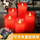 LED電子蠟燭 紅色電子燈石蠟假蠟燭 婚禮蠟燭婚慶供佛蠟燭舞台蠟燭 卡菲婭