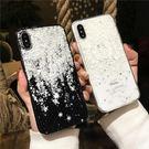浪漫雪花iphonex手機殼蘋果7plus8p透明滴膠軟殼6splus女款保護套【快速出貨】