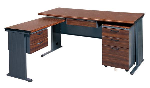 【IS空間美學】BTH150L秘書桌(深灰腳/整組)