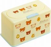 小禮堂 懶懶熊 方形按壓彈蓋口罩盒 塑膠口罩盒 口罩收納盒 面紙盒 (黃 大臉) 4974413-78503
