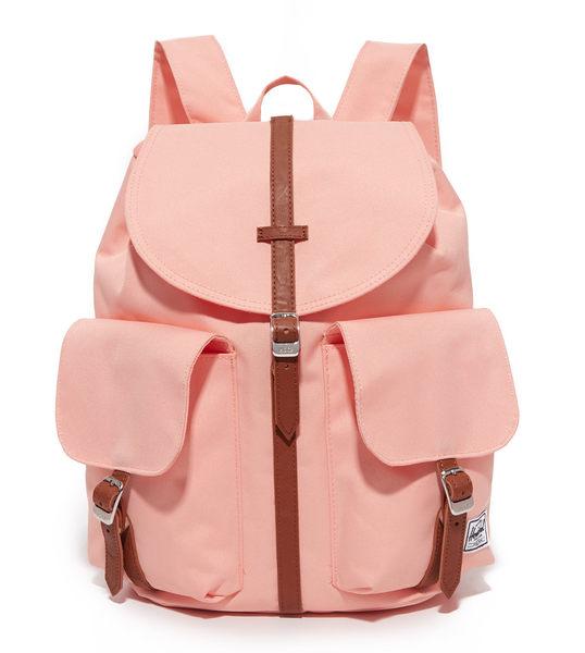Hsin 88折 現貨 Herschel 中小型 Dawson Women 粉紅 杏色 Apricot Blush 皮革 磁扣 女生 帆布 後背包