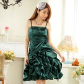 9726-JK時尚晚禮服抓皺顯瘦表演服飾燈籠裙小禮服~晚宴禮服~ 美之札