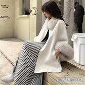 斗篷外套女 小香風雙面羊大衣冬領斗篷外套女短款