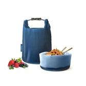 桶裝食物袋/細方格藍【Roll'eat西班牙食物袋】