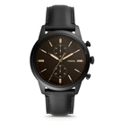 FOSSIL 黑耀低調金針男士腕錶(FS5585)-深棕/44mm