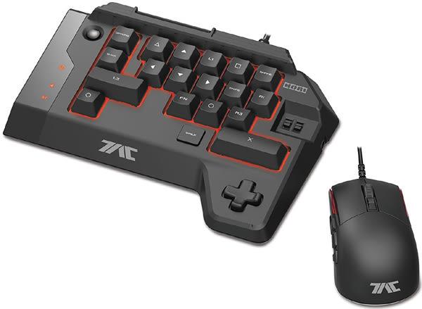 HORI 有線滑鼠+左手鍵盤組 K1(PS4.PS3.PC)