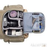 攝影背包 德國TARION攝影包國家地理雙肩包牛皮帆布休閒相機背包單反相機包 JD【美物居家館】