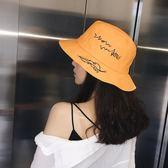 帽子女小清新百搭夏季韓版盆帽休閒遮臉日系漁夫帽戶外防曬遮陽帽