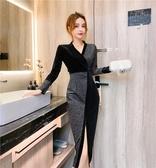 洋裝禮服高端小晚禮服女2020新款平時可穿高級質感氣場女王宴會連身裙T647-A.1號公館