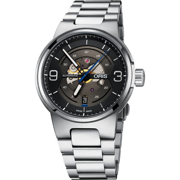 ORIS 豪利時 Williams鏤空日期機械腕表-灰/42mm 0173377164164-0782450