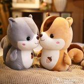 可愛小松鼠羽絨棉胖倉鼠松鼠公仔布娃娃毛絨玩具生日禮物抱枕玩偶igo『韓女王』