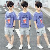 兒童5男童夏裝兩件套裝2019新款6夏季7帥氣8運動短袖10男孩12歲潮