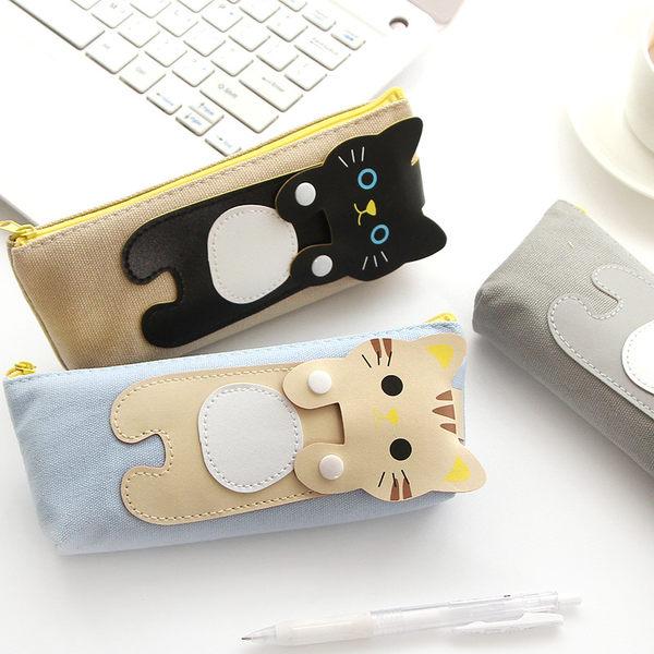 【00249】 無辜萌貓咪 帆布筆袋 鉛筆盒