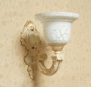 設計師美術精品館歐式壁燈單頭壁燈鏡櫃燈白色田園簡歐別墅壁燈過道燈