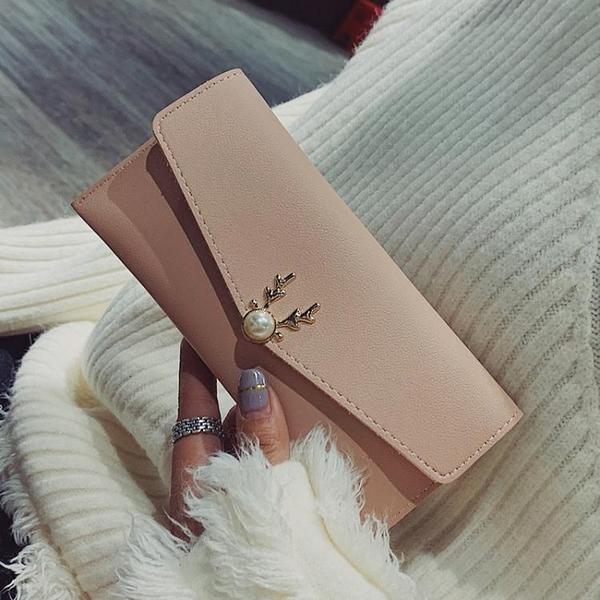 包包女新款潮韓版時尚折疊休閒簡約百搭氣質手拿大氣長款錢包 至簡元素