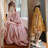 洋氣孕婦裝夏天連身裙春夏時尚2020甜美網紅孕婦裙夏裝潮辣媽個性 唯伊時尚
