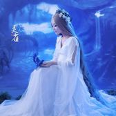 盤子女人坊古裝主題寫真服裝Cosplay精靈仙女服性感白色禮服 靈雀