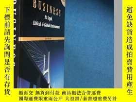 二手書博民逛書店Business:罕見Its Legal Ethical And