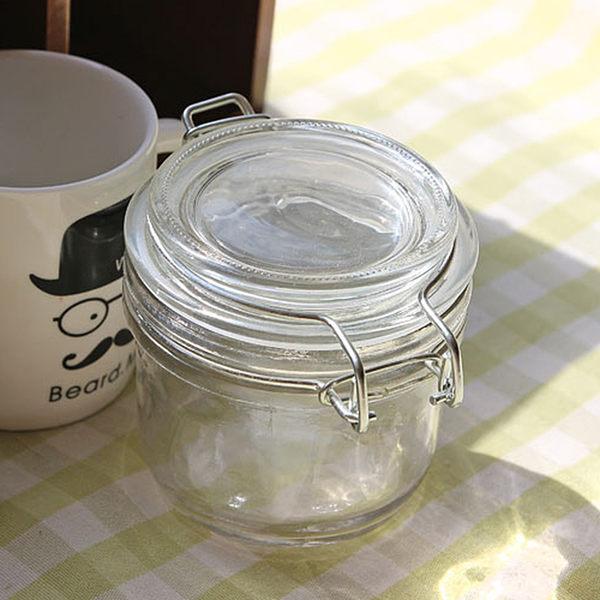 [超豐國際]玻璃密封罐糖果罐 小號玻璃瓶雜糧儲物罐 蜂蜜檸檬1入