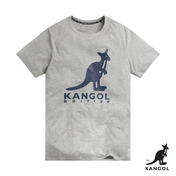 KANGOL-經典LOGO圓領短袖T恤-男-灰