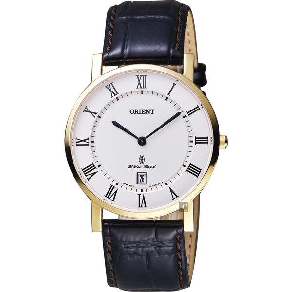ORIENT東方 羅馬復刻手錶-白x金框x咖啡/38mm FGW0100FW