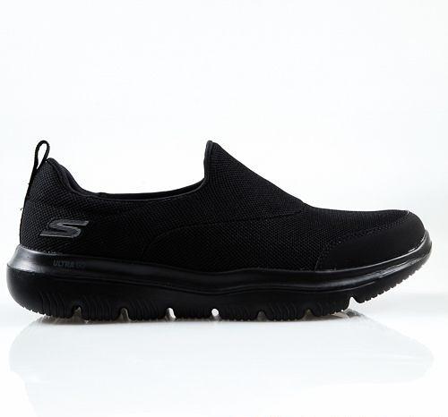 SKECHERS系列-男款GO WALK EVOLUTION黑色健走休閒鞋-NO.54730BBK