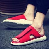 涼拖鞋男 拖鞋男涼拖鞋男潮沙灘鞋男士涼鞋一字拖涼鞋男潮室外 優一居
