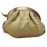 La Perla 金色 水餃包/化妝包《Belle倍莉小舖》