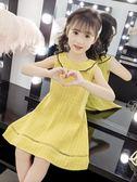 女童連身裙夏裝2019新款韓版超洋氣夏季兒童公主裙小女孩純棉裙子