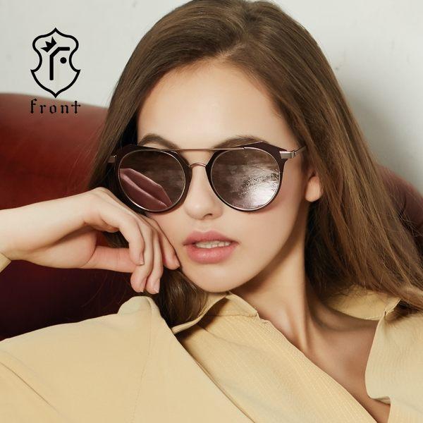 【Front 太陽眼鏡】The Day-五色可挑選#個性雙槓太陽眼鏡/墨鏡