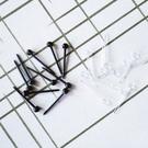 矽膠 小圓球耳棒耳釘針-黑、透明白 防抗過敏 4支(2對)價