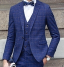 找到自己品牌 韓國男 一粒扣 修身西裝 三件式西裝外套 成套西裝 西裝外套 外套+背心+褲子