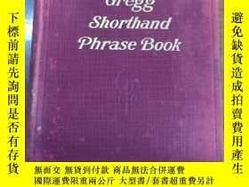 二手書博民逛書店Gregg罕見Shorthand Phrase Book格雷格速