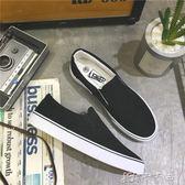 秋季帆布鞋男懶人鞋一腳蹬不繫帶韓版潮流鞋子青年休閒老北京布鞋 卡卡西