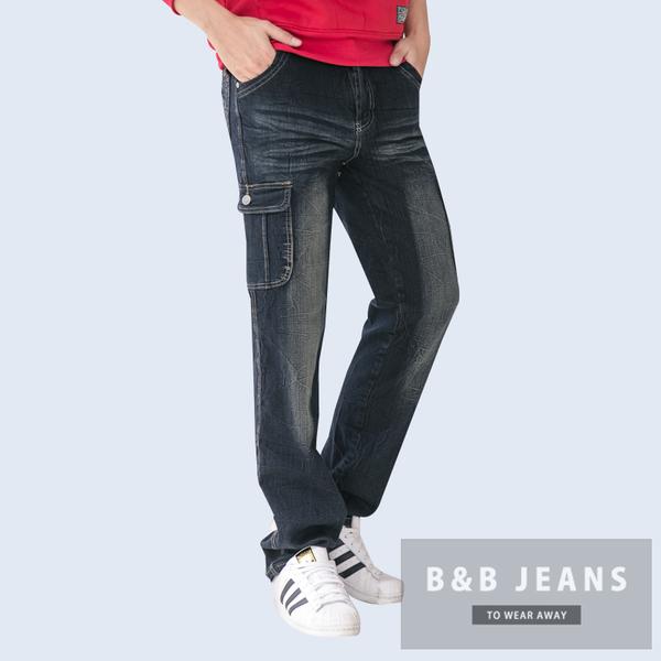 工作褲.鬼洗多口袋優質幾何造型牛仔褲