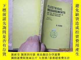 二手書博民逛書店electrical罕見measurements and the