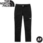【The North Face 女 合身軟殼長褲《黑》】4NCC/防潑水/戶外長褲/休閒長褲/登山褲