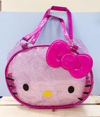 【震撼精品百貨】Hello Kitty_凱蒂貓~Sanrio HELLO KITTY防水收納包/透明手提包-大頭桃#79346