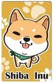 【悠遊卡貼紙】領巾柴犬 # 悠遊卡/e卡通/感應卡/門禁卡/識別證/icash/會員卡/多用途卡片貼紙