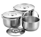 超厚0.8 mm 瑪露塔 316不鏽鋼三件式提鍋16+19+22cm 調理鍋 萬用鍋 內鍋 料理鍋 台灣製造