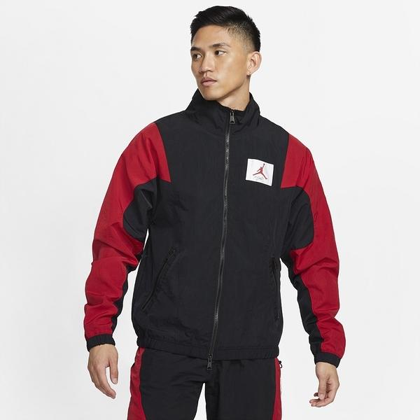 NIKE風衣外套 JORDAN M J FLT SUIT JKT 男款黑紅色立領防風運動外套 CV3151010