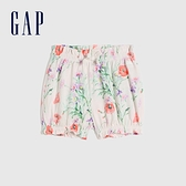 Gap嬰兒 可愛純棉印花花苞褲 681776-淡粉印花