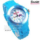 SANRIO三麗鷗 HELLO KITTY凱蒂貓系列 日本機芯 星星 童趣卡通女錶 兒童錶 天藍色 S7-1043K
