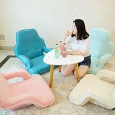 懶人沙發帶扶手榻榻米可摺疊單人大沙發電腦椅子地板陽台沙發LX【四月特惠】
